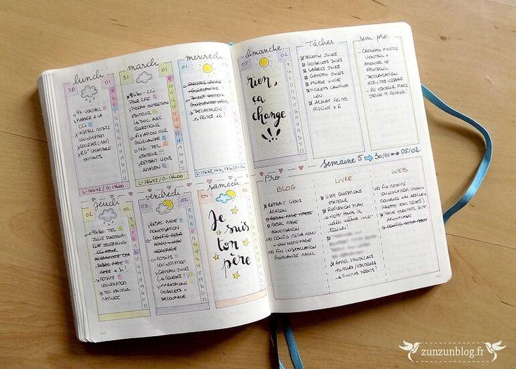 Quoi de neuf en février dans mon Bullet Journal ? Une belle double page pour ouvrir le mois, comme d'habitude, avec une page de...