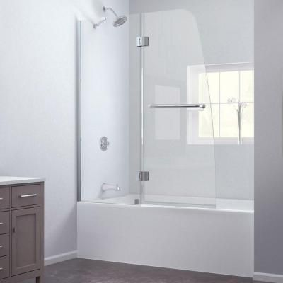 DreamLine Aqua 48 in. x 58 in. Frameless Pivot Tub/Shower Door in Chrome-SHDR-3148586-01 at The Home Depot $394.80