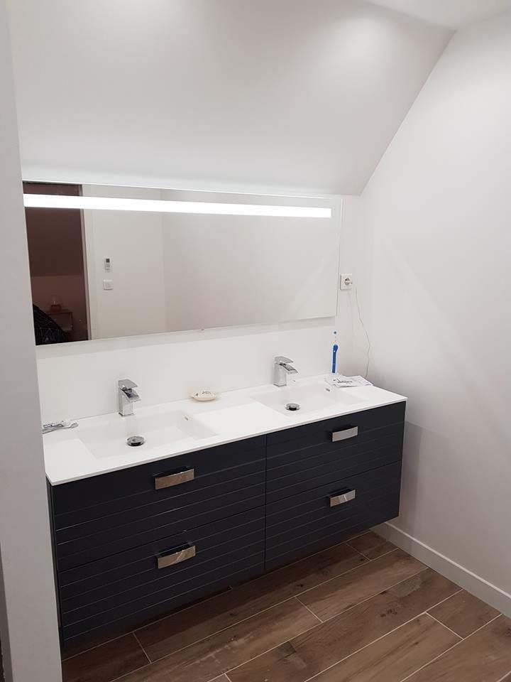 Refection Complete D Un Etage Sous Combles Suite Parentale Douche A L Italienne Douche Italienne Idee Salle De Bain Et Douche