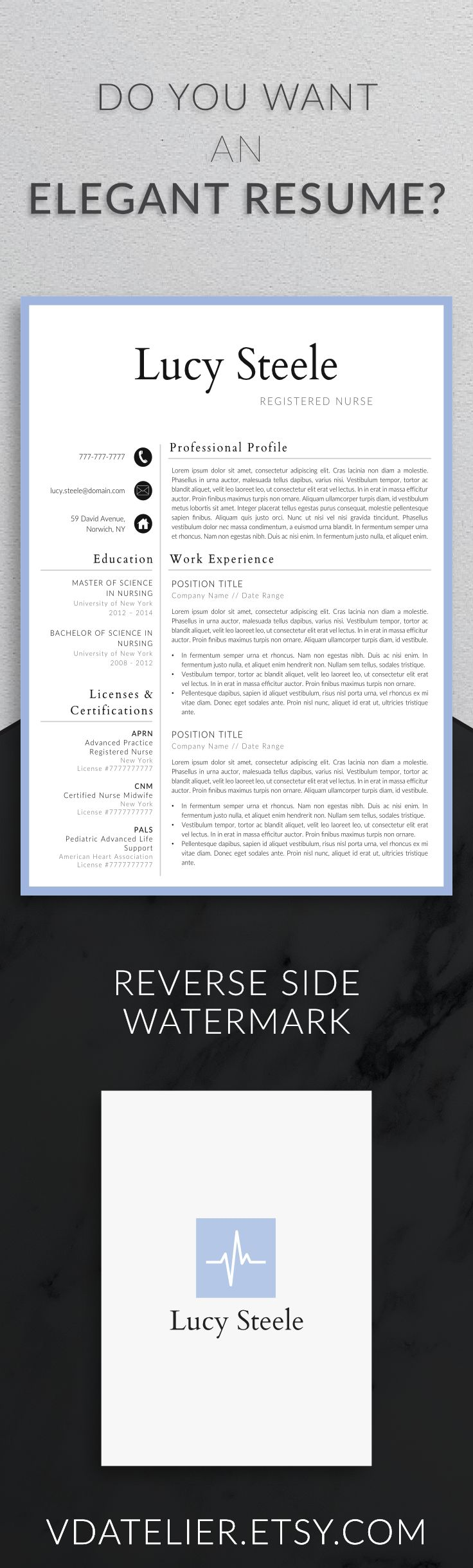 38 Best Nurse Resume Templates Images On Pinterest | Resume