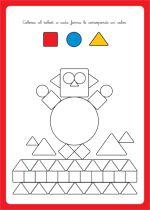 geometrische figurenWerkbladen/kleurplaten