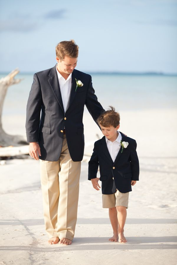 Love this look for a groom. Ring bearer look is cute too!