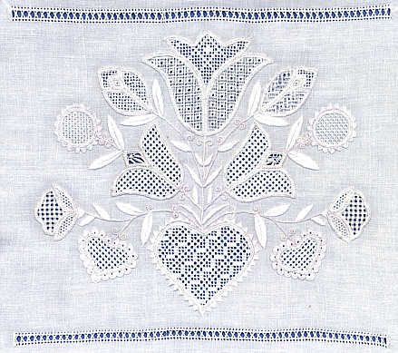 Schwalm embroidery (Hesse region, Germany)