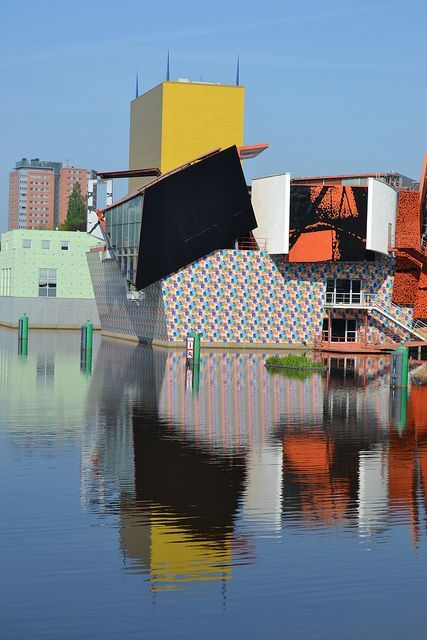 The Groninger Museum, Groningen. Spectacular architecture. Hosts state of the art of contemporary art in the world. One of the five most progressive modern/contemporary art collections in the world. #Holland #architecture