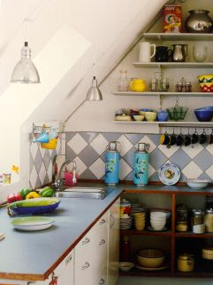 Christiania is ALSO a Freetown for creative interior design and architecture, get inspiration from the book and on the blog www.interiorwise.wordpress.com! Cozy and cool kitchen! Photo: christiania interior book, Interiorwise