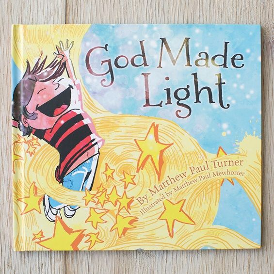 Gorgeous new children's book! #GodMadeLight -- talks about God creating LIGHT and that each of our children also has a LIGHT that the world needs to see!! LOVE the message of this book!