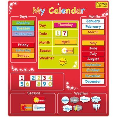 Doowell Magnetic My Calendar Chart
