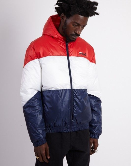 c1b83df82d5d Fila Tatum Hooded Windjacket Red | Fila in 2019 | Fila outfit ...