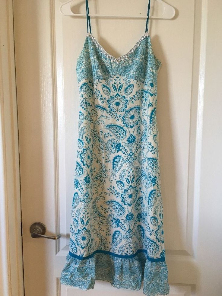 Ann Taylor Loft Size 4 Dress Sundress Floral Beautiful  #AnnTaylorLOFT #Sundress
