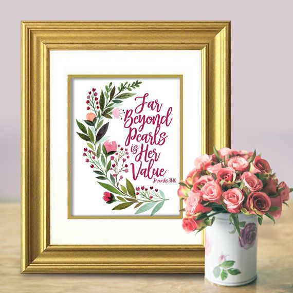 3826 best jewish gift ideas images on pinterest baby gifts baby far beyond pearls is her value scripture by sababadecor negle Images