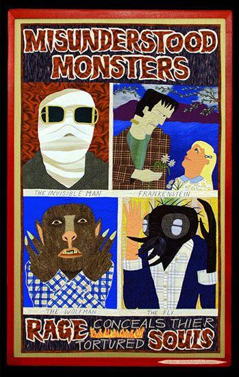 Misunderstood Monsters, tapestry by Chris Antieau
