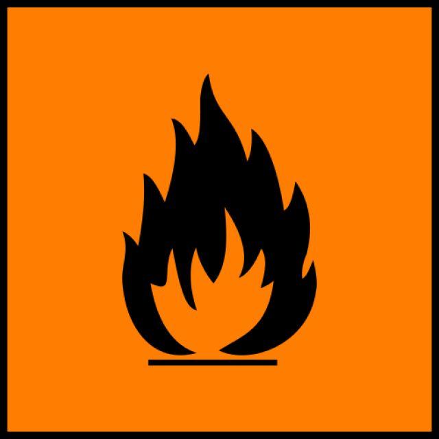 Science Laboratory Safety Signs: Orange