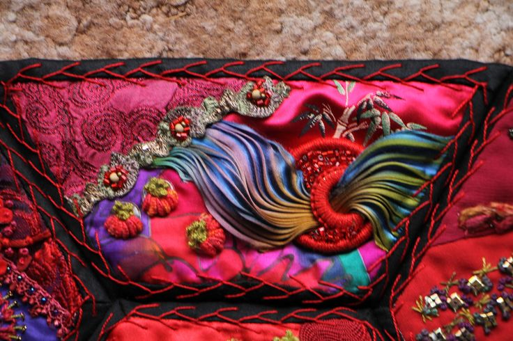 Detail of rainbow panel by Margaret Roberts