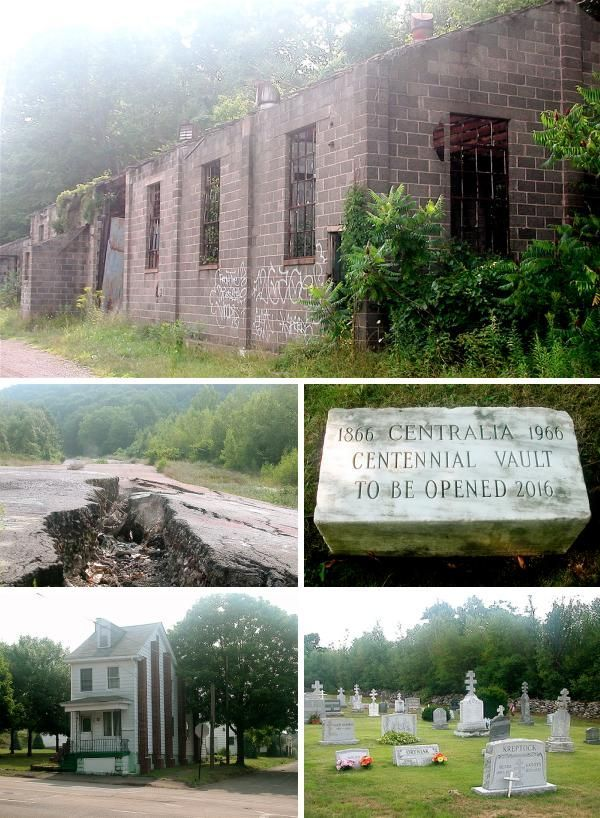 """In the small town of Ashland, Pennsylvania, Route 61 takes an unexplained detour; a """"Keep Out"""" sign straddles the original highway. Ignore the warning and you'll arrive in the abandoned town of Centralia, where an underground mine fire has been burning since 1962 when residents accidentally ignited a vein of anthracite coal. Despite efforts stop the fire it still burns today and could burn for 250 years. Been here!"""
