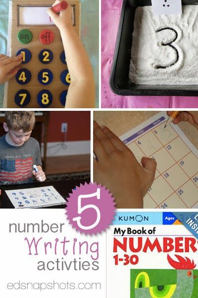 Five Number Writing Activities for Young Learners | Everyday Snapshots