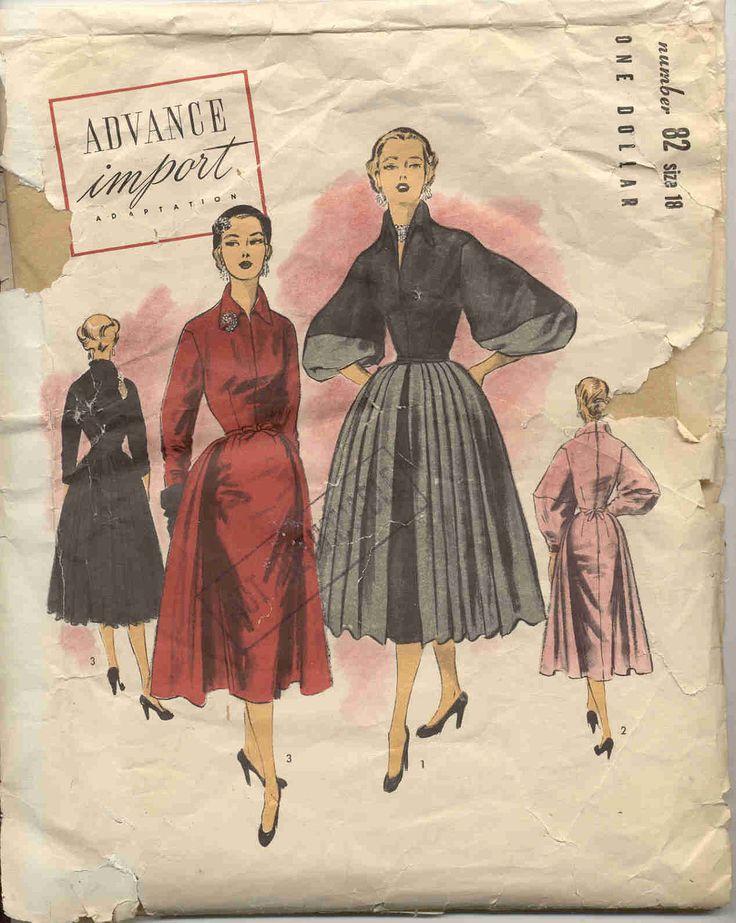 380 Best I Vintage Sewing Patterns Images On Pinterest Vintage