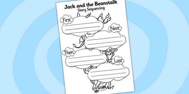 Jack and the Beanstalk Story Sequencing Worksheet - FREE
