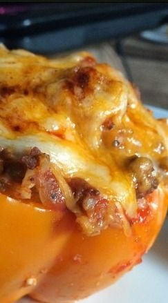 Healthy Stuffed Bell Peppers - includes 21 Day Fix measurements