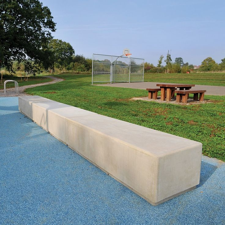 Fallowfield Concrete Seat | Street Furniture | Broxap