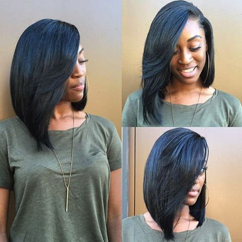 Image result for asymmetrical long bob sew in