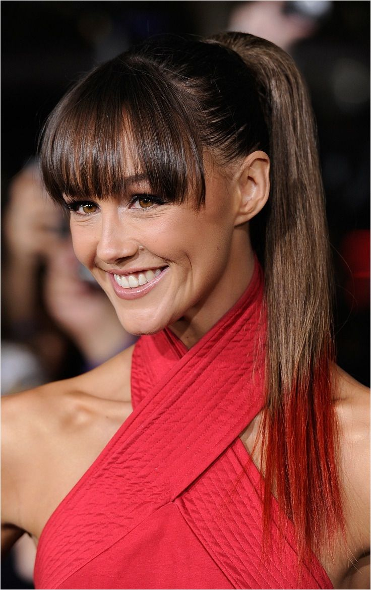 Top 10 Trendy Hairstyles with Bangs top Inspired Fresh Bangs and Ponytail Nu24749