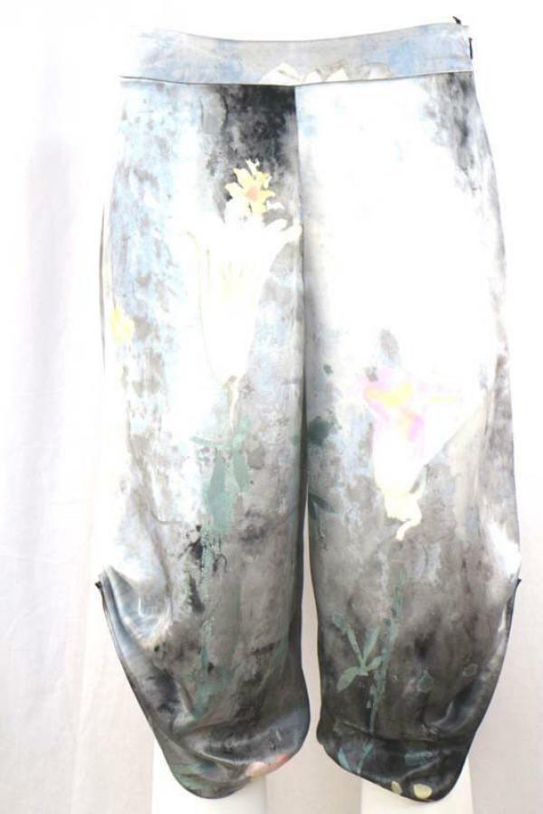 AR739 GIORGIO ARMANI 40 hosen grau seide damen in Kleidung & Accessoires, Damenmode, Hosen | eBay