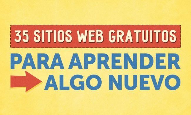 35 Sitios web gratuitos para aprender algo nuevo