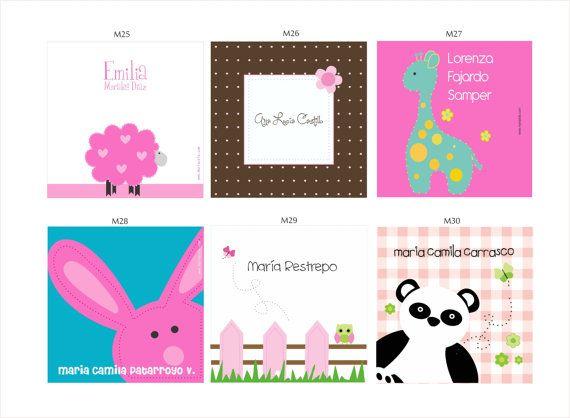 Tarjetas Personalizadas para niñas por TarjetasMariaLola en Etsy