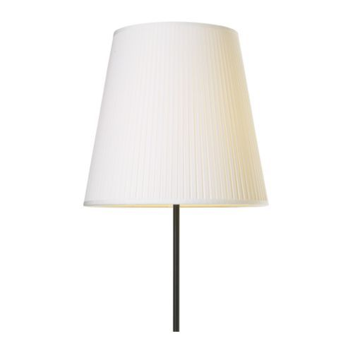 IKEA - EKÅS, Lamp shade, , Create your own personalised pendant or floor lamp by combining the lamp shade with your choice of cord set or base.You can create a soft, cosy atmosphere in your home with a textile shade that spreads a diffused and decorative light.Compatible with lamp bases and cord sets with both large and small light bulbs because you can adjust the feating.