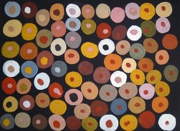 Phyllis Ningarmara / Gerany- Stone Country 2010 Natural Earth Pigments on Canvas Board 23 x 30 cm