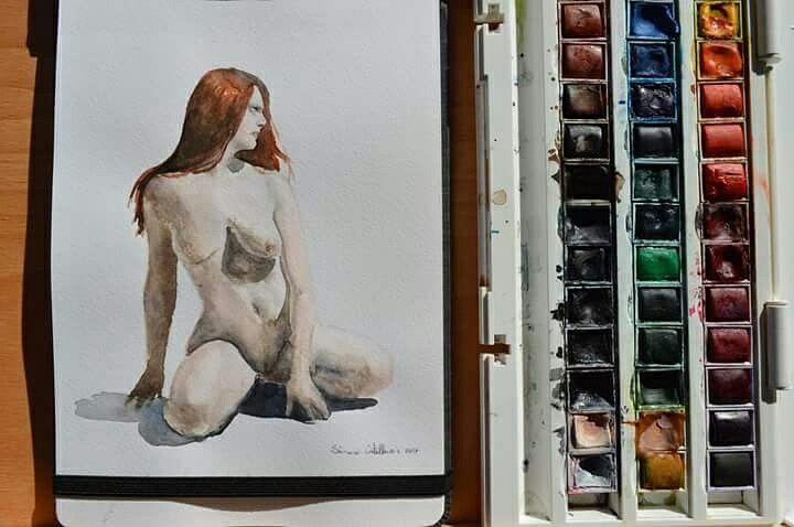 #watercolors #watercolorpainting #detail #illustration #illustrationart #illustrators #illustrationoftheday #art #artoftheday #photooftheday #sketch #winsorandnewton  #art #girlanatomy #girl #followmenow #winsorandnewton #photo #nude