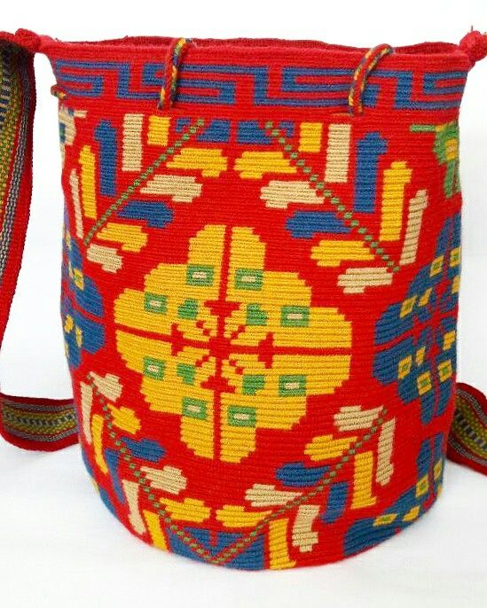 Bag wayuu flower desing