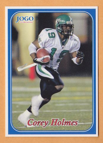 Corey Holmes CFL card 2003 Jogo #243 Saskatchewan Roughriders  Mississippi Valley State MVSU Delta Devils