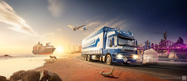 Commissioned to concept and produce a wall mural for the Queensland Australia Distribution office for Mainfreight. We shot over 4 days and incorporated iconic Qld locations and animals to give the Mainfreight Entry wall a distinctly SE Qld flavour.Photog…