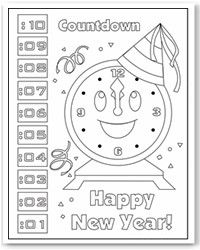 new years countdown coloring pages - photo#5