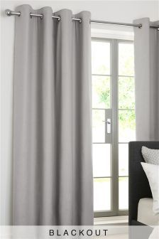Cotton Blackout Eyelet Curtains Studio Collection By Next (784469) | £40 - £110