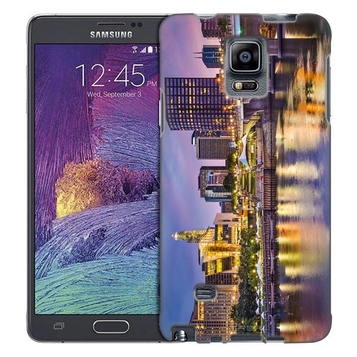Samsung Galaxy Note 4 Hartford Connecticut Skyline Trans Case