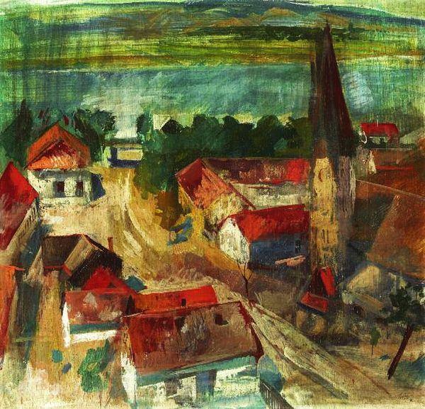Szőnyi, István (1894-1960) - Zebegény, in background the Danube, 1930