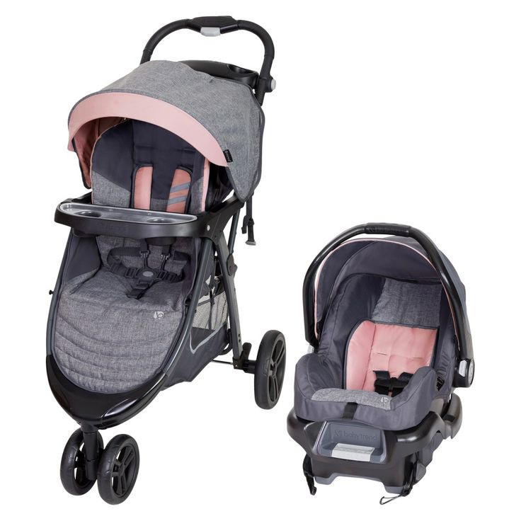 Double Pram Target Baby Trend Skyline 35 Travel System Starlight Pink