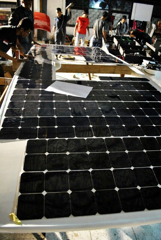 Solar panel arrays on our car!