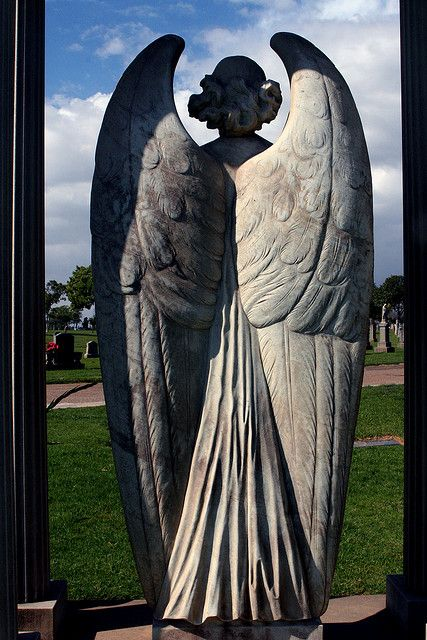 cemetery angel keeping watch