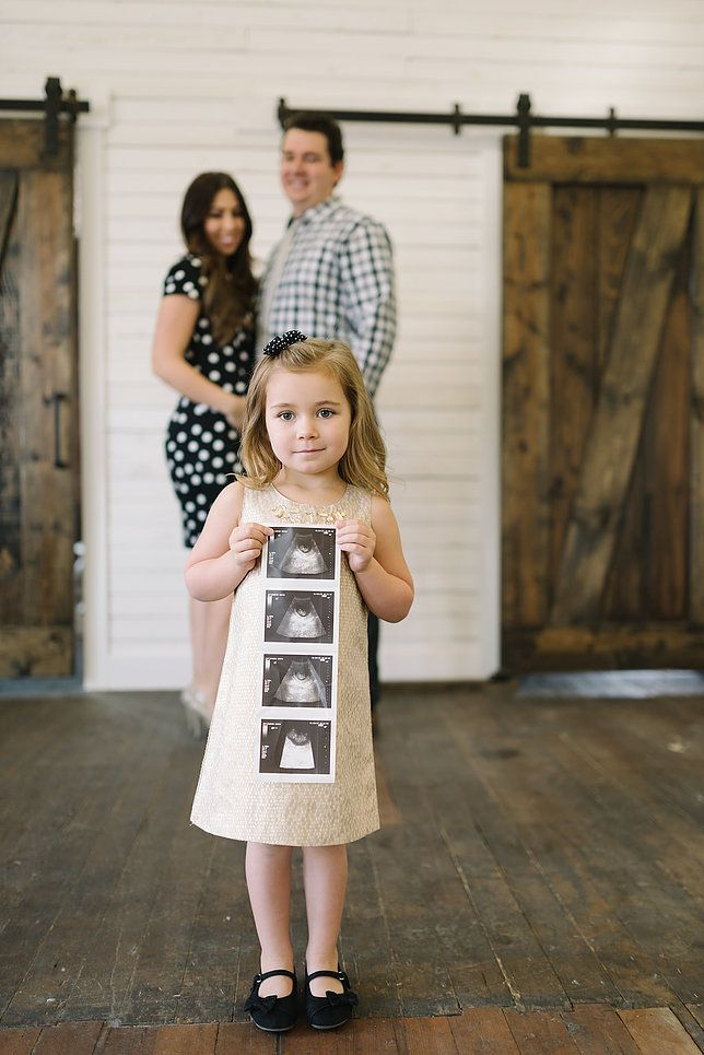 And Then There Were Four... sibling baby announcement photo