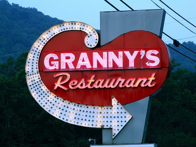Ate at Granny's Restaurant, Cherokee