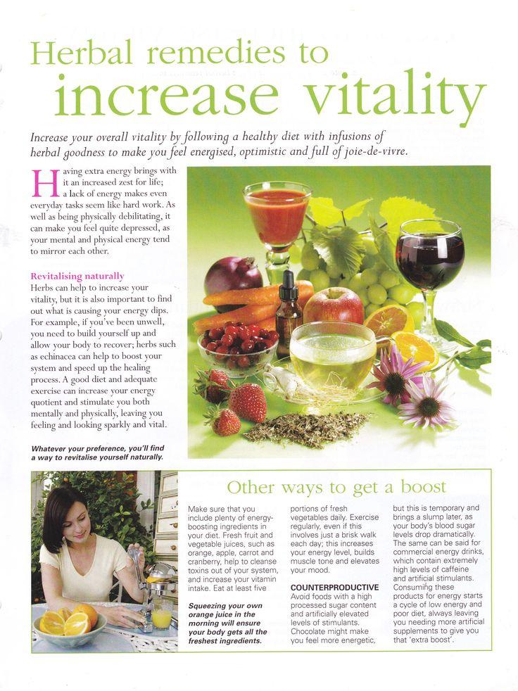 Herbal remedies to increase vitality