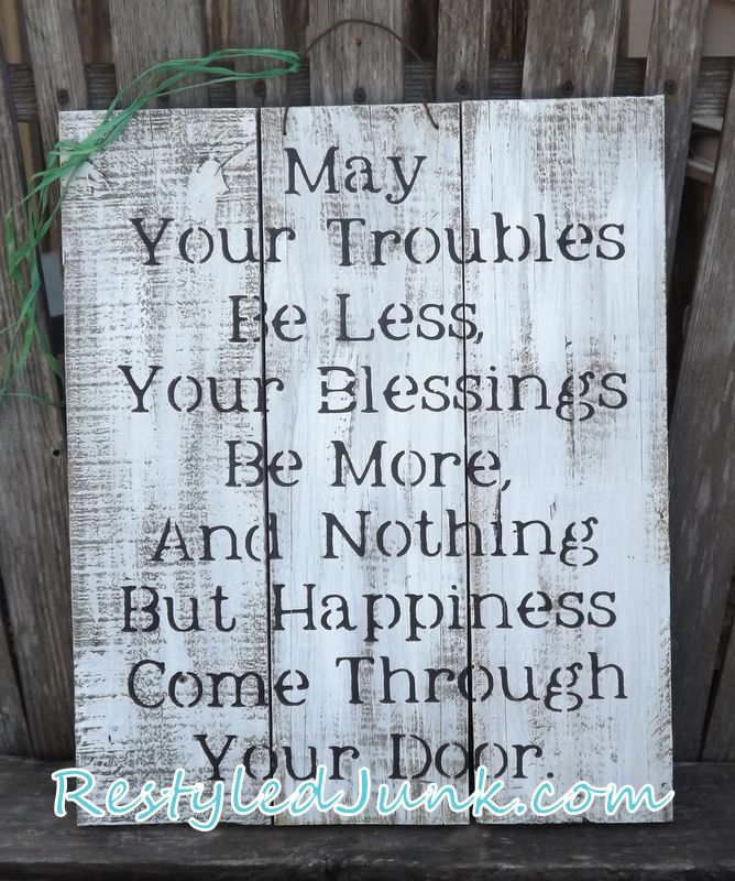 Irish Blessing DIY Art                                                       …