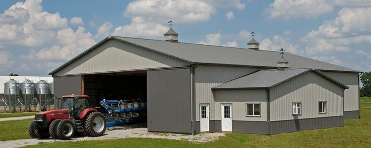 45 best machine storage buildings images on pinterest for Pole barn equipment shed