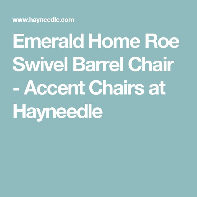 Emerald Home Roe Swivel Barrel Chair - Accent Chairs at Hayneedle