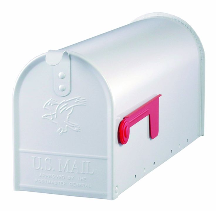 Gibraltar E1100W00 Standard Size Galvanized Steel Rural Mailbox, White - Security Mailboxes - Amazon.com