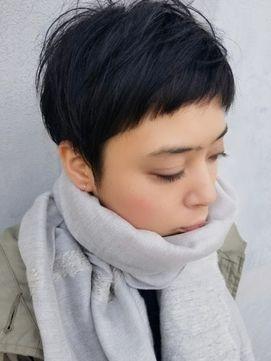 大人女性向け◆冬の黒髪ショートスタイル
