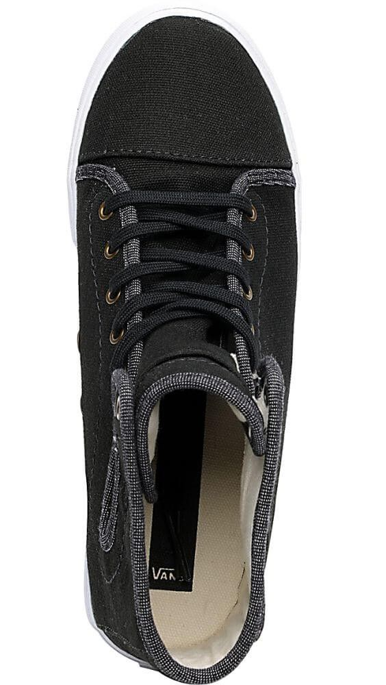 VANS Hadley Canvas Black Khaki Girls Shoes  bc3b008ba